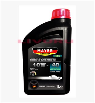 10W-40 Mayer Lubrication Nitro Semi Synthetic Motor Yağı 1 LT