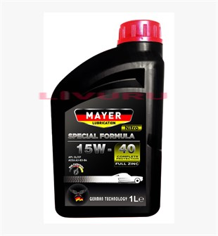 15W-40 Mayer Lubrication Nitro Semi Synthetic Motor Yağı 1 LT