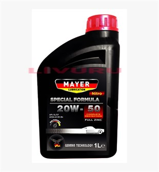 20W-50 Mayer Lubrication Nitro Semi Synthetic Motor Yağı 1 LT