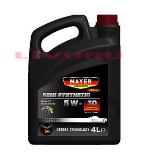 5W-30 Mayer Lubrication Nitro Semi Synthetic Motor Yağı 4 LT